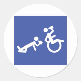 boozer de la silla de ruedas etiquetas redondas