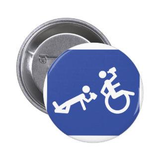 boozer de la silla de ruedas pin redondo de 2 pulgadas