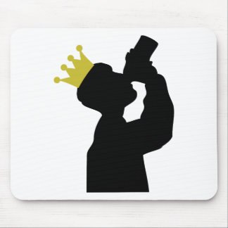boozer king with crown icon mouse pad