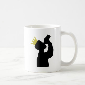 boozer king with crown icon coffee mugs
