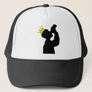 boozer king with crown icon trucker hat