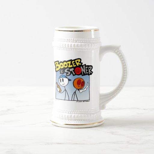 Boozer & Stoner Stein 1 Coffee Mugs