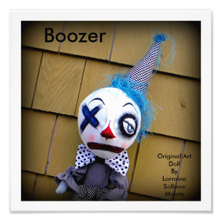 Boozer the Clown Art Doll Print