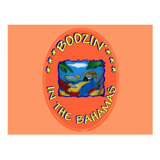 BOOZIN' IN THE BAHAMAS POSTCARD