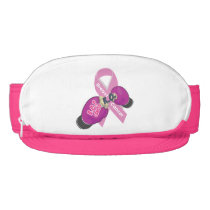 BOP CANCER- Breast Cancer Zipper Sun Visor