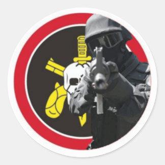 BOPE Brazilian Special Police Classic Round Sticker