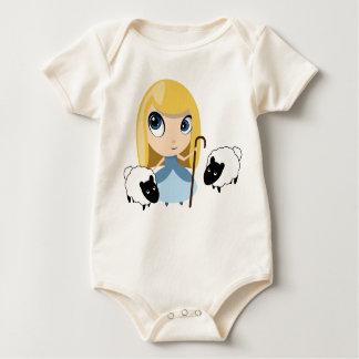 Bopeep and her sheep baby bodysuit
