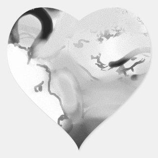bopeepsheepb&w heart sticker