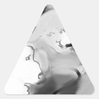 bopeepsheepb&w triangle sticker