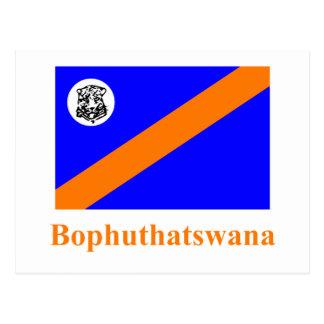 Bophuthatswana Flag with Name Post Card