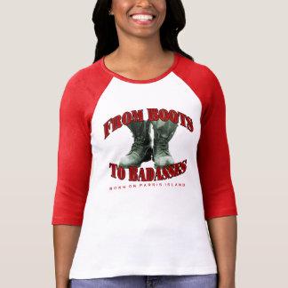 """BOPI """"botas a Badasses"""" 3/4 camiseta del raglán de Polera"""