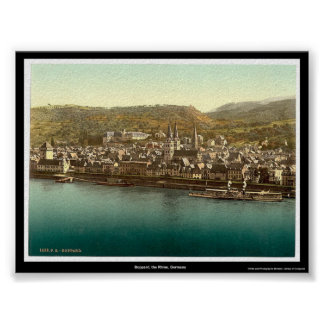 Boppard, the Rhine, Germany Poster