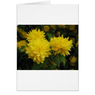 Boquet amarillo tarjeta de felicitación