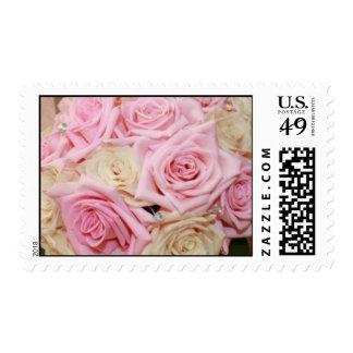 Boquet color de rosa sello