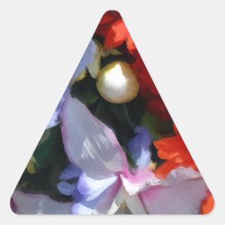 Boquet colorido pegatina triangular