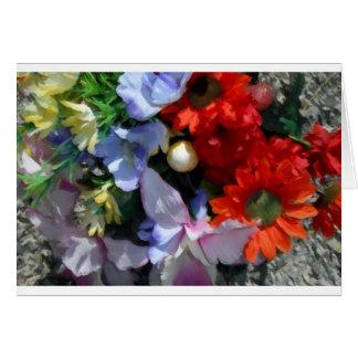 Boquet colorido tarjeta de felicitación