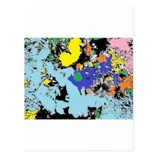 Boquet de flores tarjeta postal