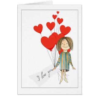 boquet del día de San Valentín de los corazones Tarjeta De Felicitación