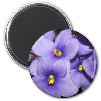 Boquet violeta imán redondo 5 cm