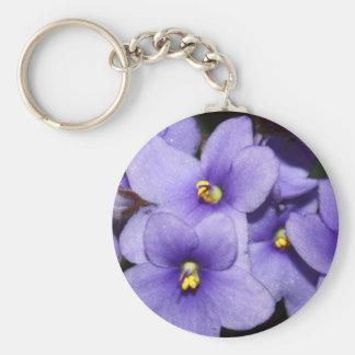 Boquet violeta llavero redondo tipo pin