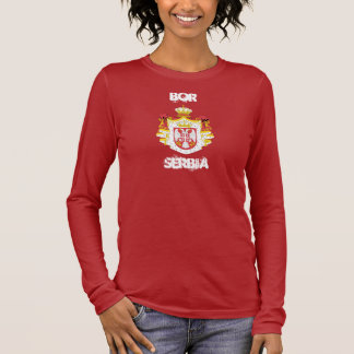 Bor, Serbia with coat of arms Long Sleeve T-Shirt