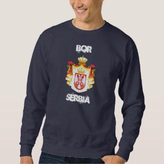Bor, Serbia with coat of arms Sweatshirt