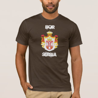 Bor, Serbia with coat of arms T-Shirt