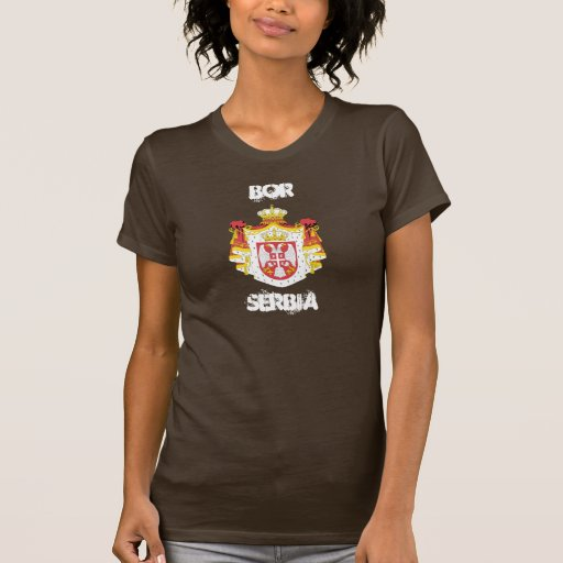 Bor, Serbia with coat of arms T Shirts