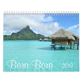 Bora Bora 2019 landscape photography calendar