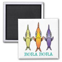 Bora Bora 3-Fishes Magnet
