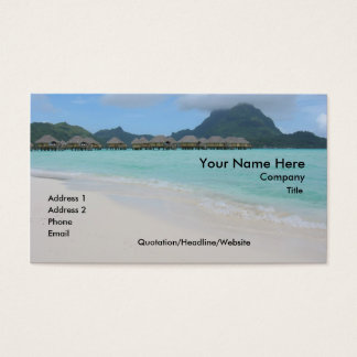 Bora Bora Beach Business Card