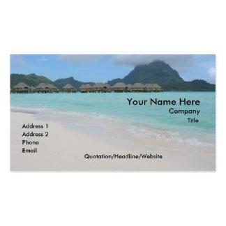 Bora Bora Beach Business Card