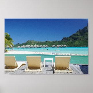 Bora Bora Beach Canvas Poster