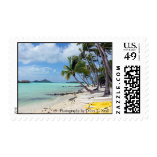 Bora Bora Beach Postage Stamp