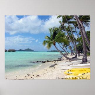 Bora Bora Beach Poster