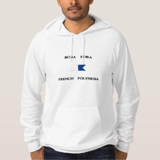 Bora Bora French Polynesia Alpha Dive Flag Hooded Sweatshirt