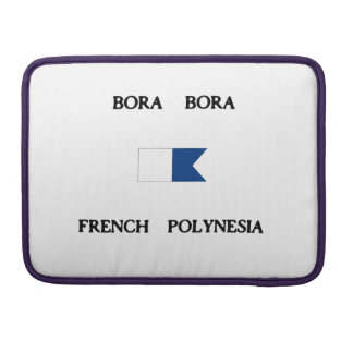 Bora Bora French Polynesia Alpha Dive Flag MacBook Pro Sleeve