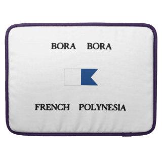Bora Bora French Polynesia Alpha Dive Flag Sleeve For MacBooks
