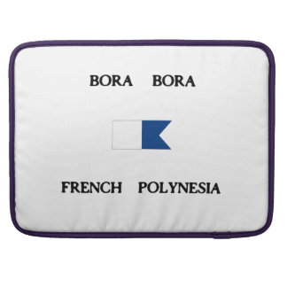 Bora Bora French Polynesia Alpha Dive Flag Sleeves For MacBook Pro