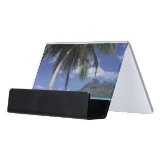 Bora Bora, French Polynesia Mt. Otemanu Desk Business Card Holder