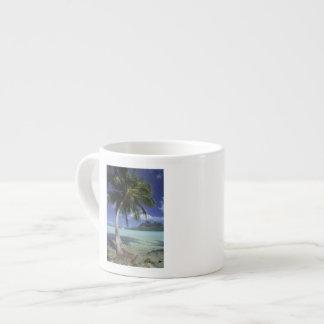 Bora Bora, French Polynesia Mt. Otemanu seen Espresso Cup