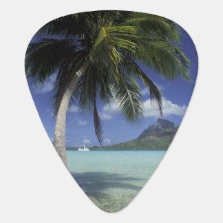 Bora Bora, French Polynesia Mt. Otemanu seen Guitar Pick
