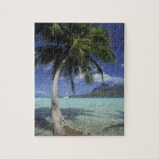 Bora Bora, French Polynesia Mt. Otemanu seen Jigsaw Puzzle