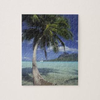 Bora Bora, French Polynesia Mt. Otemanu seen Jigsaw Puzzle