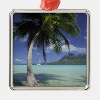 Bora Bora, French Polynesia Mt. Otemanu seen Metal Ornament