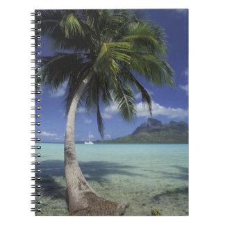 Bora Bora, French Polynesia Mt. Otemanu seen Notebook