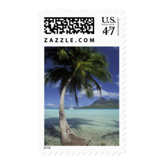 Bora Bora, French Polynesia Mt. Otemanu seen Postage