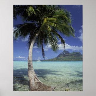Bora Bora, French Polynesia Mt. Otemanu seen Poster