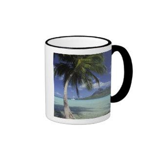 Bora Bora, French Polynesia Mt. Otemanu seen Ringer Mug