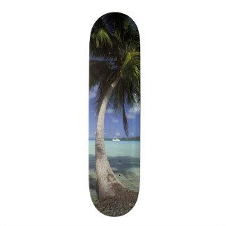 Bora Bora, French Polynesia Mt. Otemanu seen Skateboard Deck